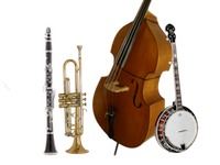 Banjo, Double Bass, Clarinet, and Trumpet