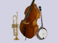Banjo, Double Bass, and Trumpet